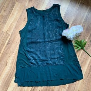 Apt 9 sleeveless top with sparkle design size M